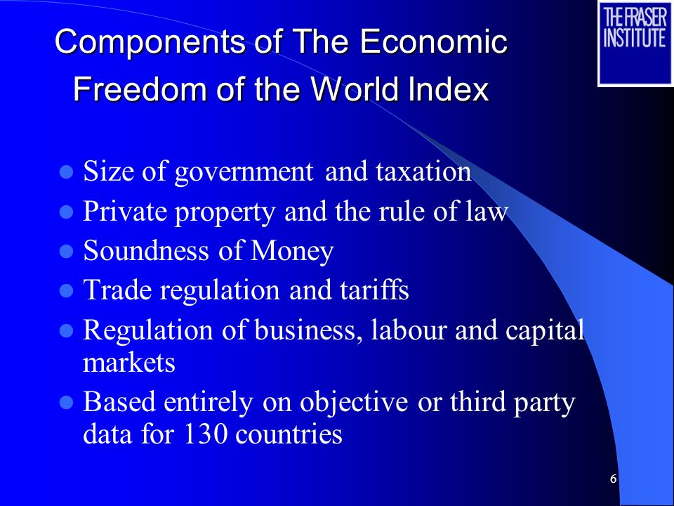 5 What is Economic Freedom Individuals have economic freedom when property they acquire without the use of force, fraud, or theft is protected from ph