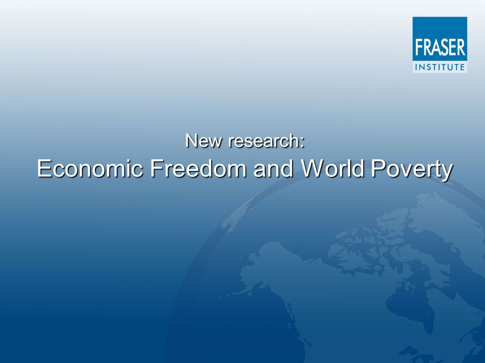 New research: Economic Freedom and World Poverty