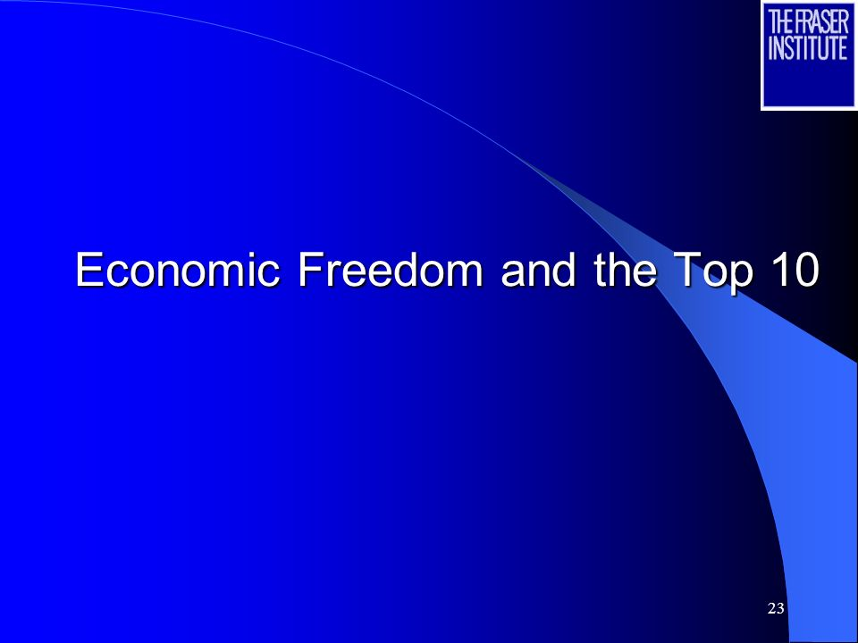 23 Economic Freedom and the Top 10