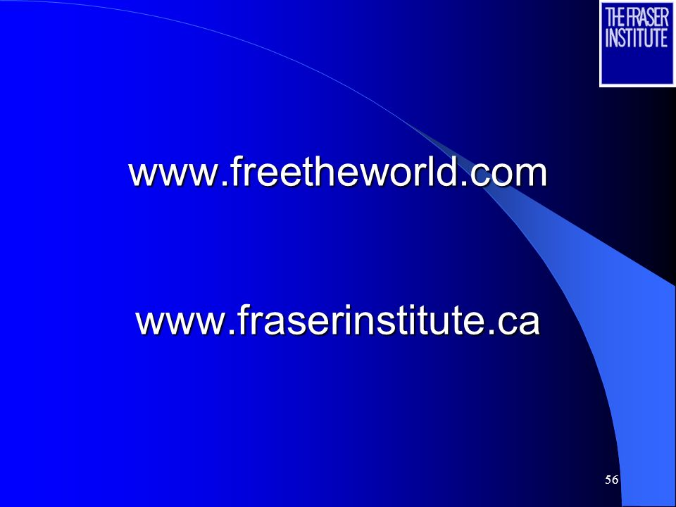 56 www.freetheworld.com www.fraserinstitute.ca