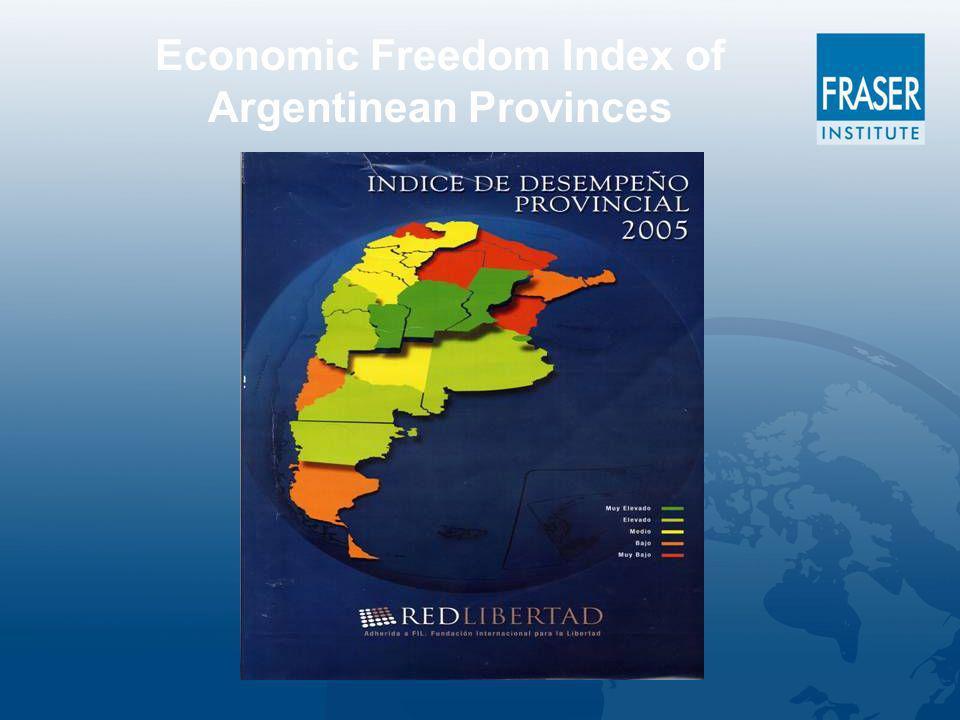 Economic Freedom Index of Argentinean Provinces