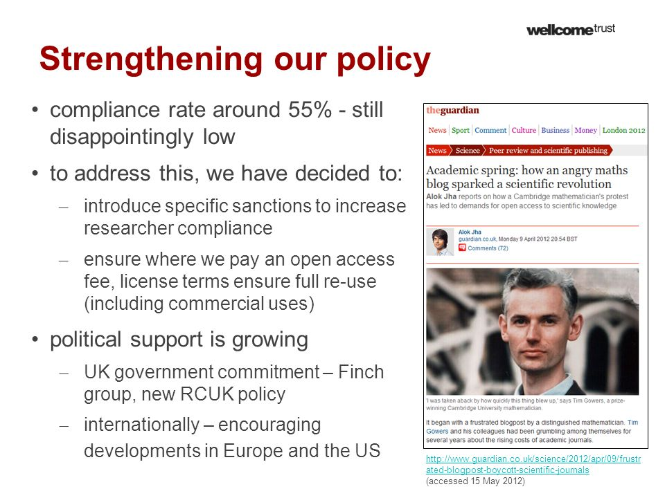 Strengthening our policy compliance rate around 55% - still disappointingly low to address this, we have decided to: – introduce specific sanctions to