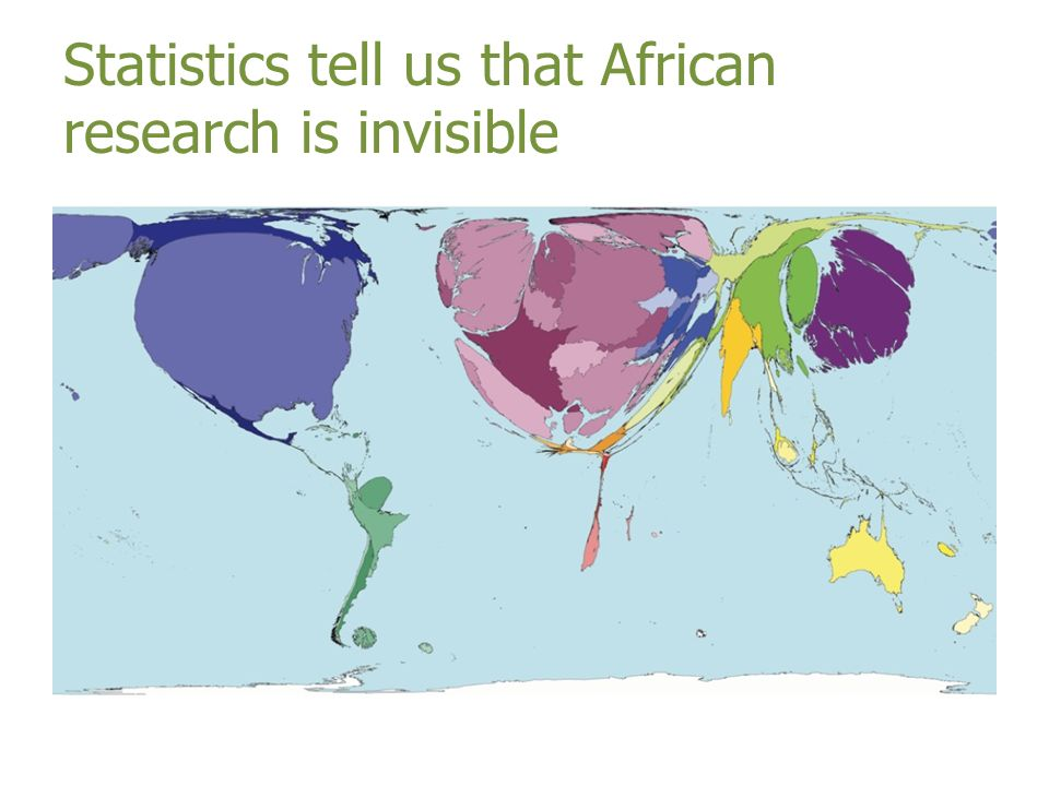 Statistics tell us that African research is invisible
