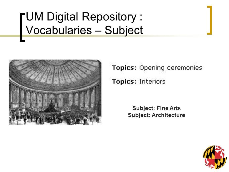 Subject: Fine Arts Subject: Architecture