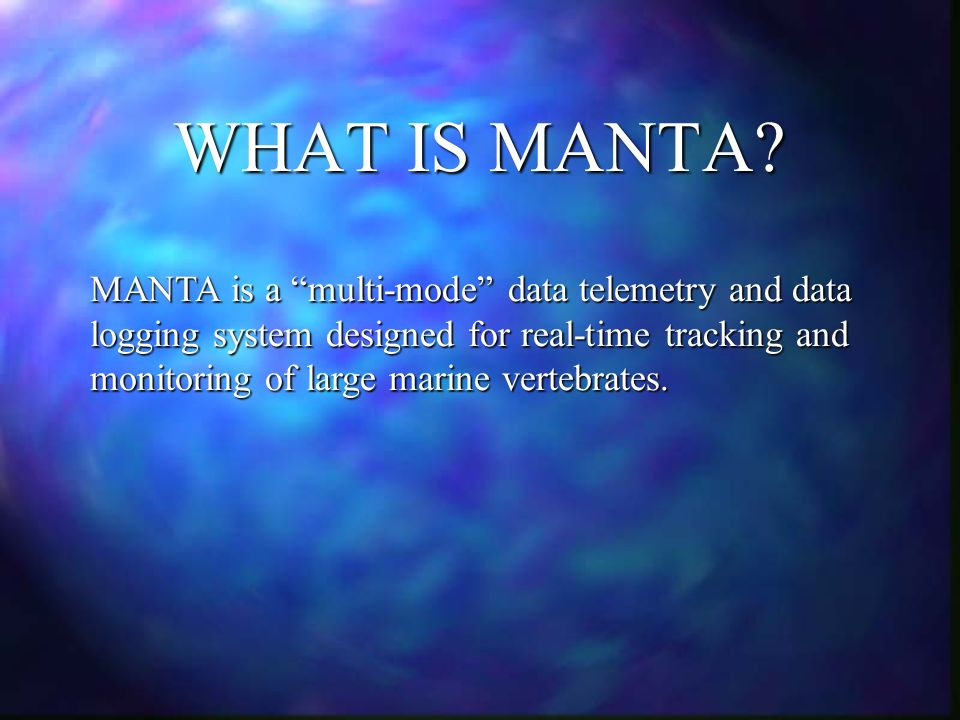 WHAT IS MANTA.