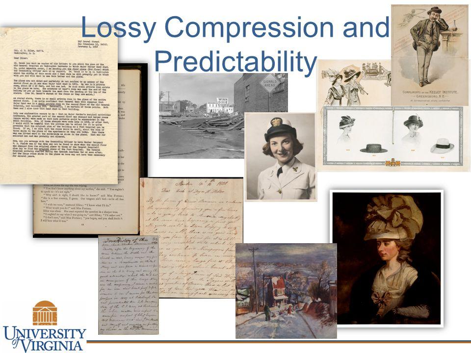 Lossy Compression and Predictability