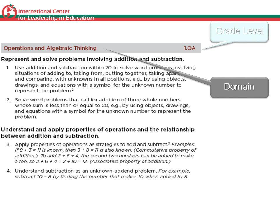 Grade Level DomainDomain