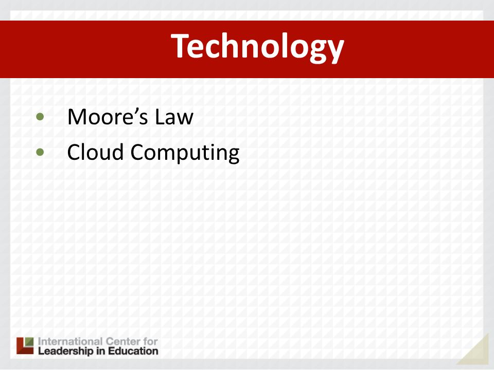 Technology Moores Law Cloud Computing