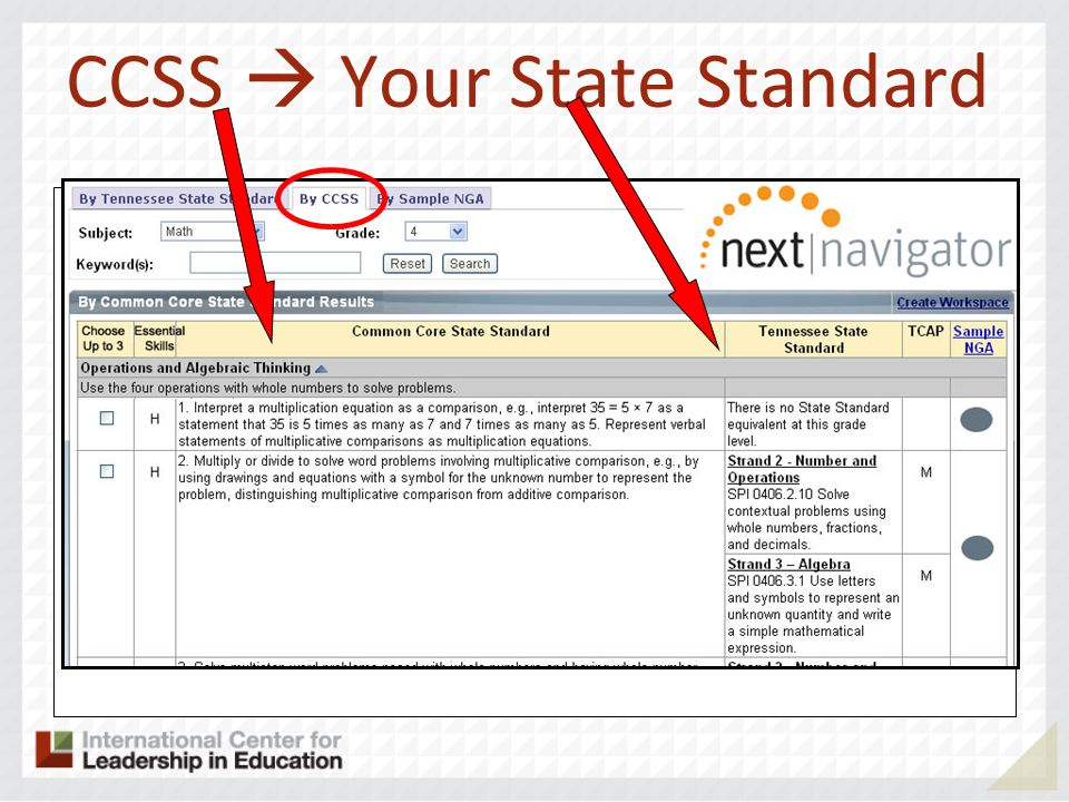 CCSS Your State Standard