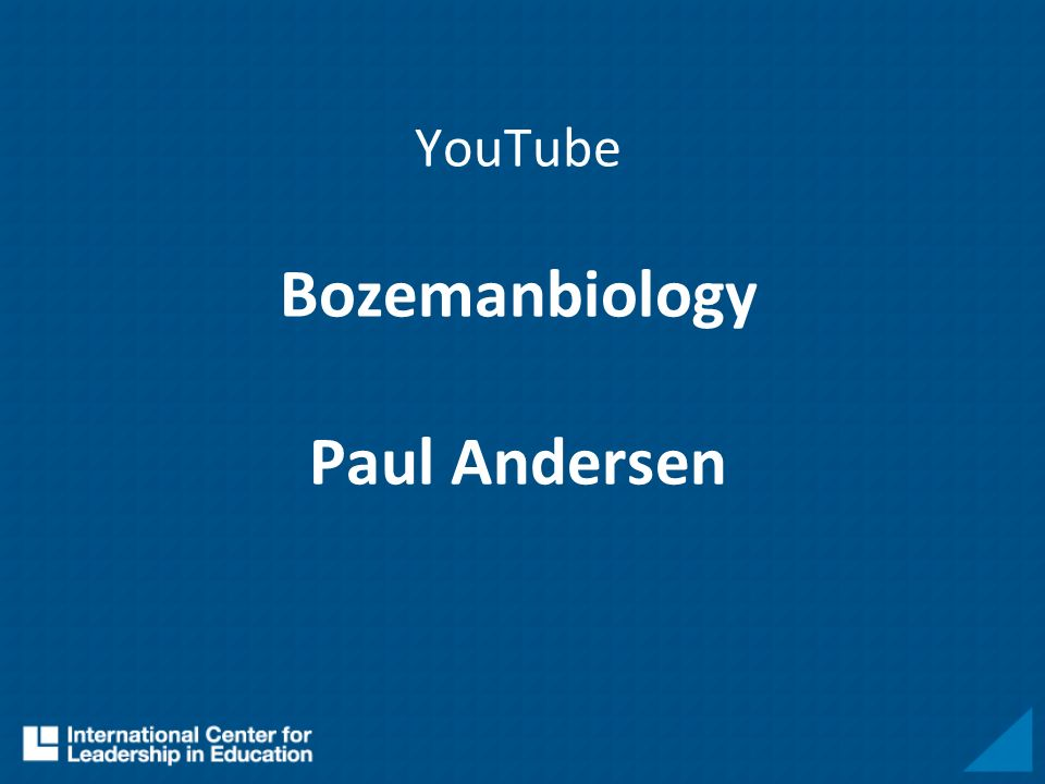 YouTube Bozemanbiology Paul Andersen