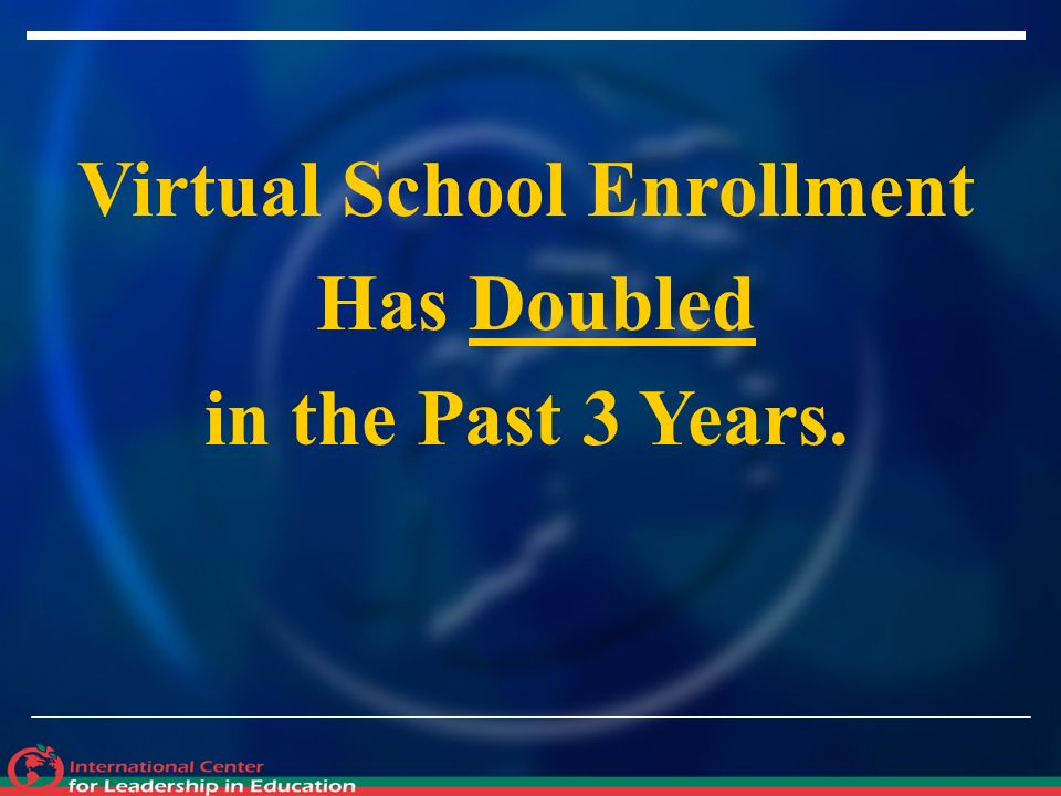 Virtual School Enrollment Has Doubled in the Past 3 Years.