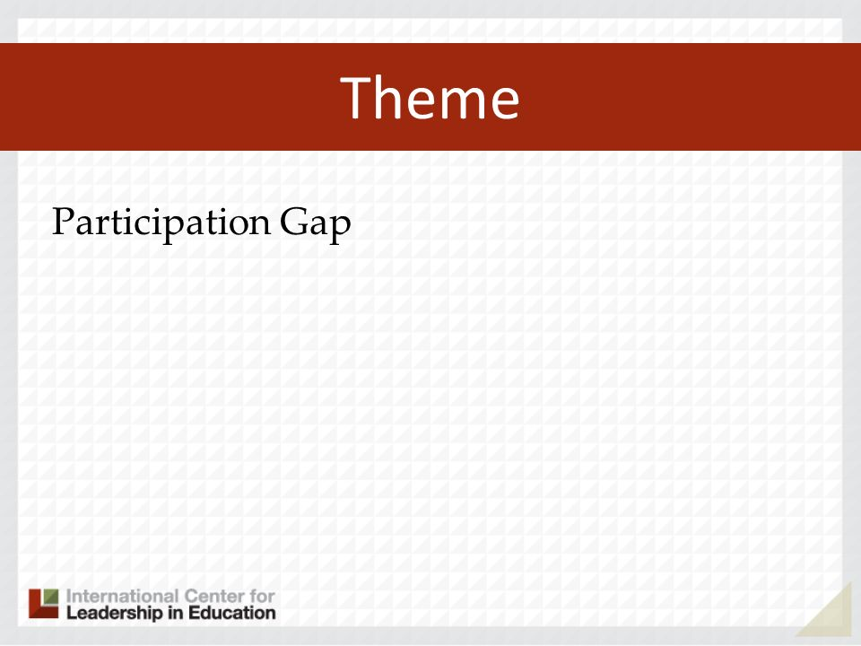 Theme Participation Gap