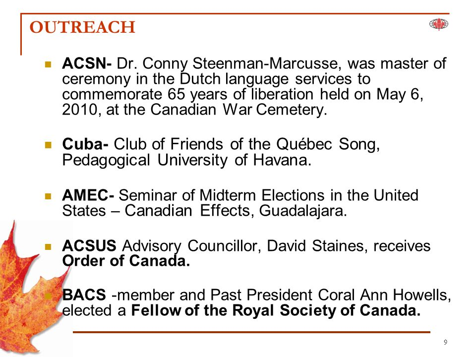 9 OUTREACH ACSN- Dr.