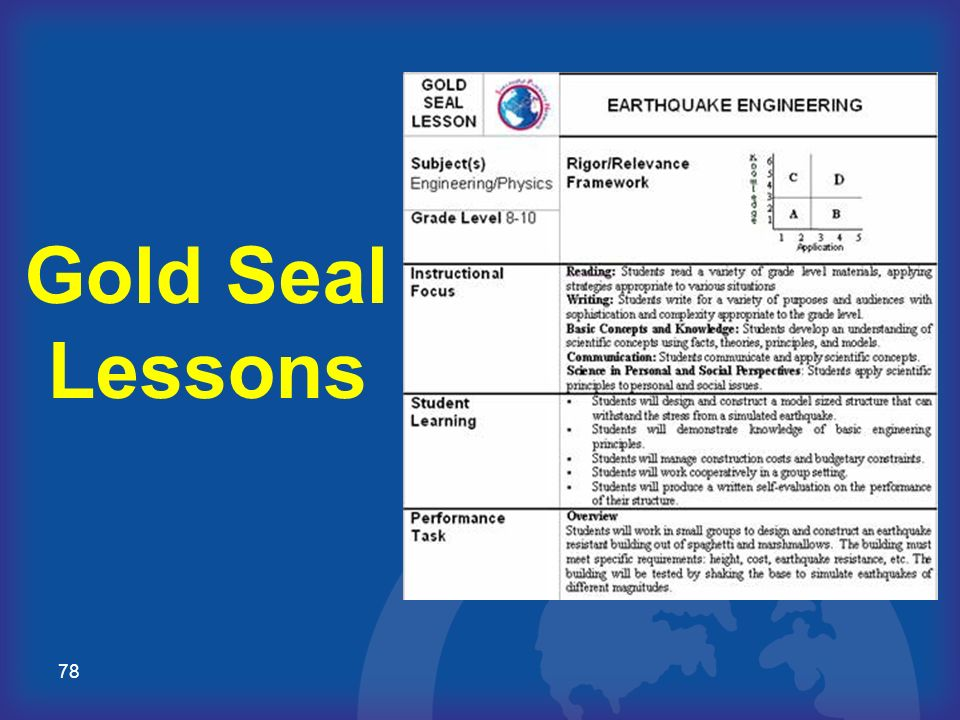 78 Gold Seal Lessons