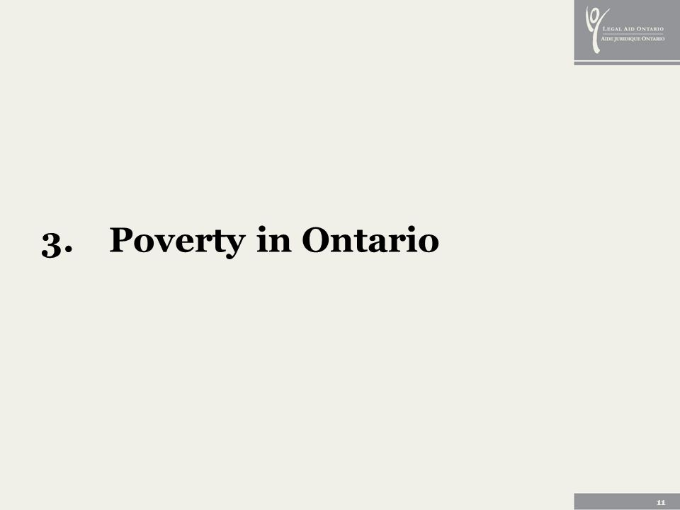 11 3.Poverty in Ontario