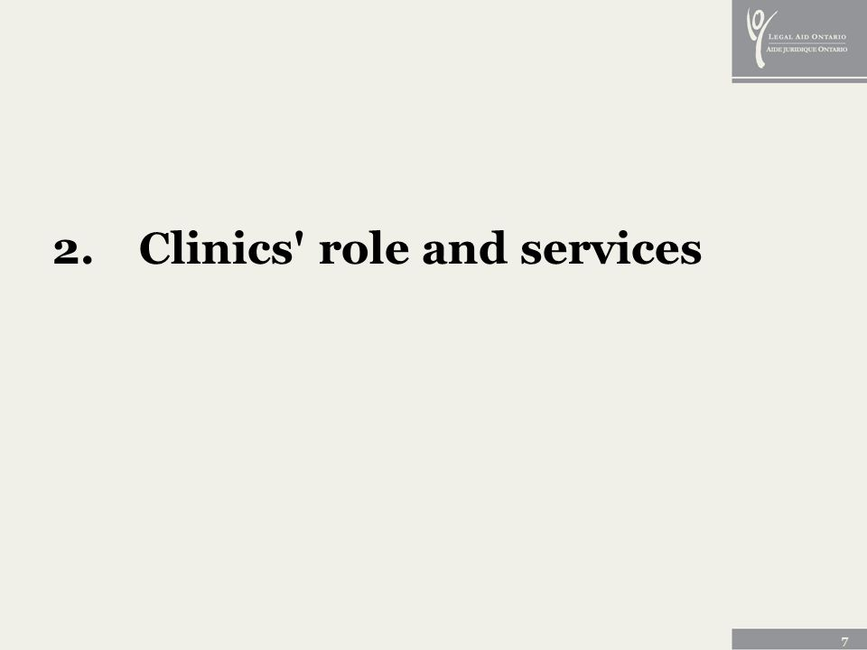 7 2.Clinics role and services