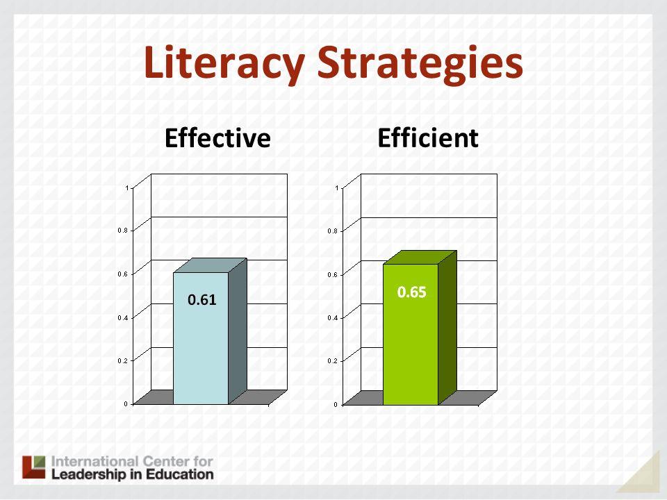 Literacy Strategies Effective Efficient