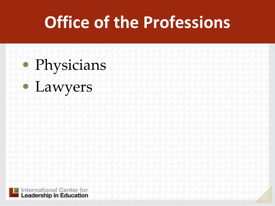 Office of the Professions Physicians Lawyers