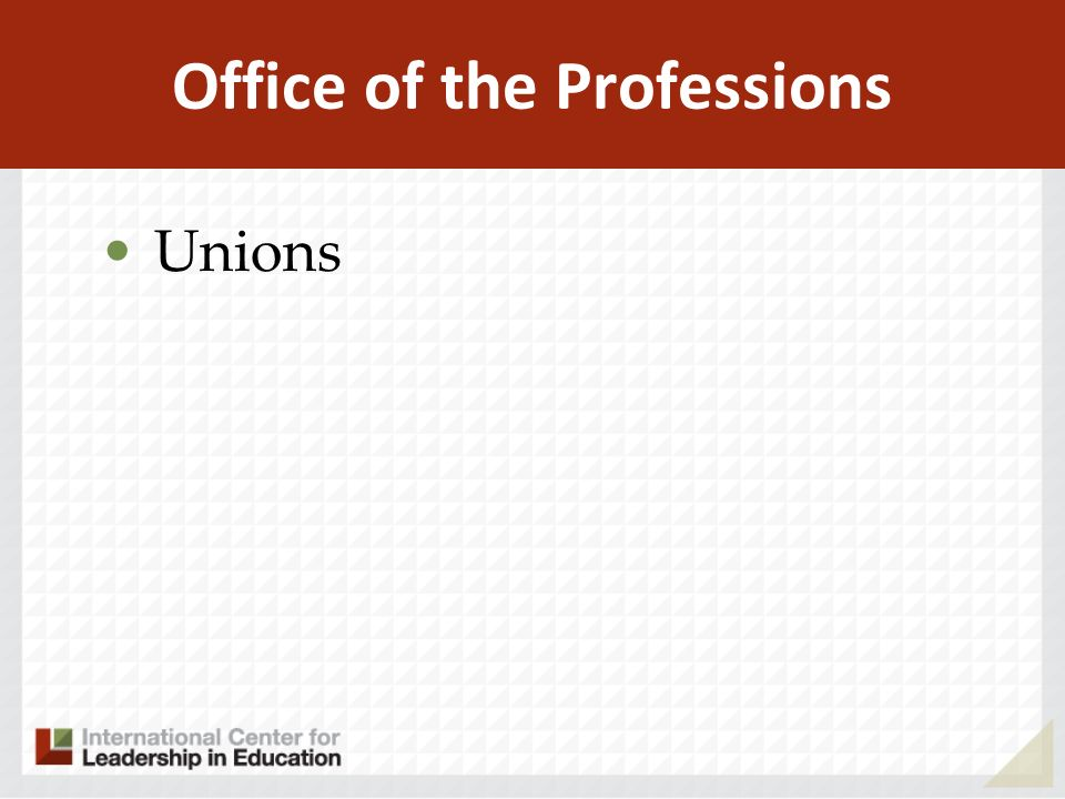 Office of the Professions Unions