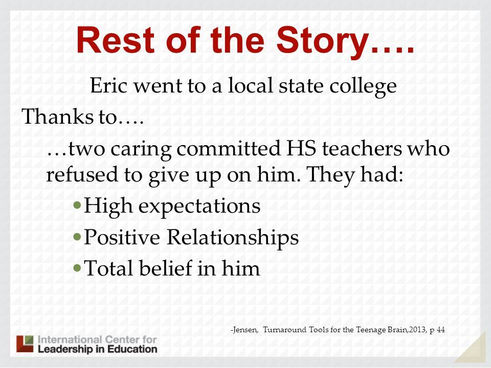 Eric Jensen Education 1957-67 California Public Schools, graduate, San Clemente High, CA (1967) 1967-1972 San Diego State University B.A.