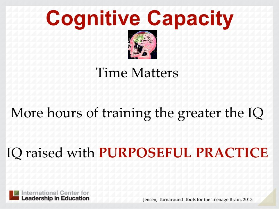 Strategies for Changing Cognitive Capacity What do your students pay attention to and show interest in.