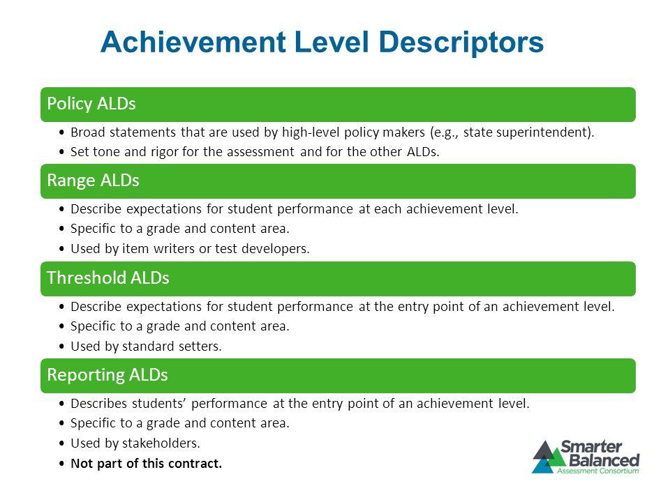 Achievement Level Descriptors