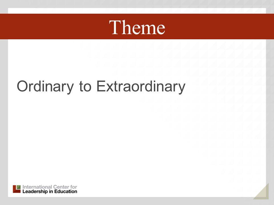 Ordinary to Extraordinary Third Key Trend Theme
