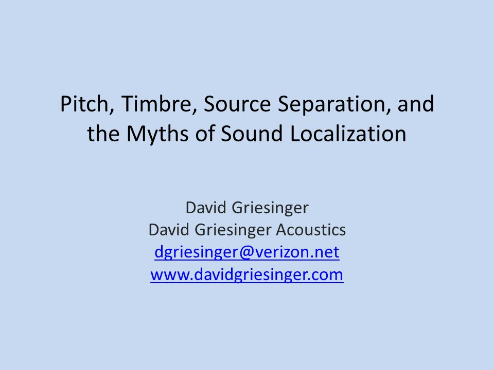 Sound Localization in Natural Hearing The sensitivity of human hearing is weighted to the frequencies of vocal formants.