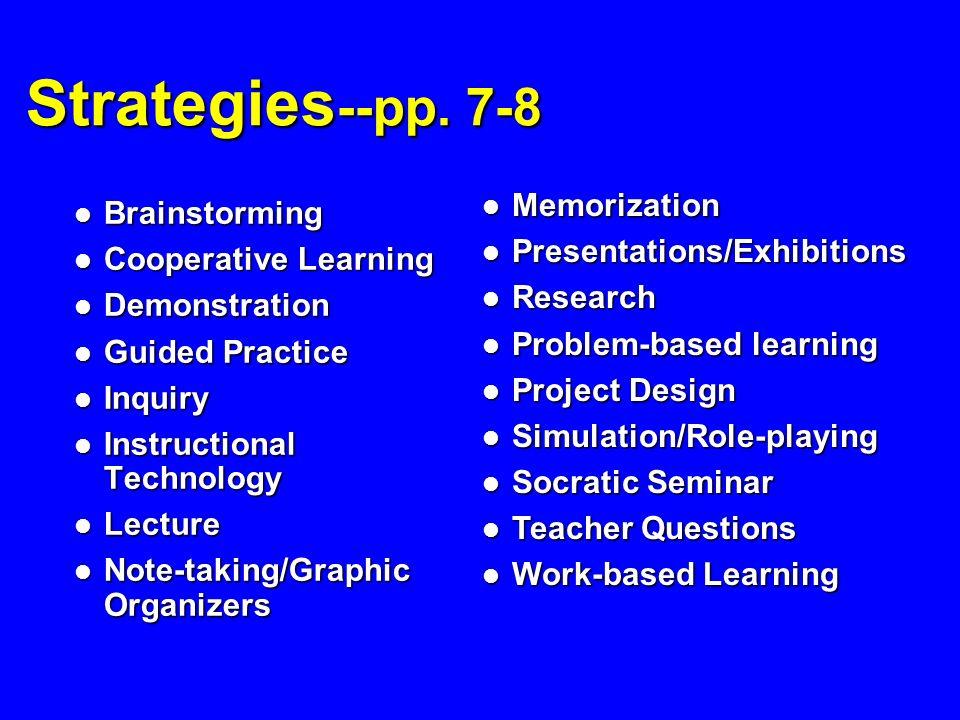 Strategies --pp.