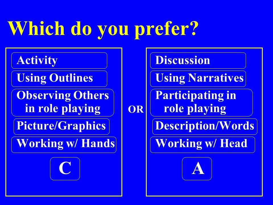 Which do you prefer.