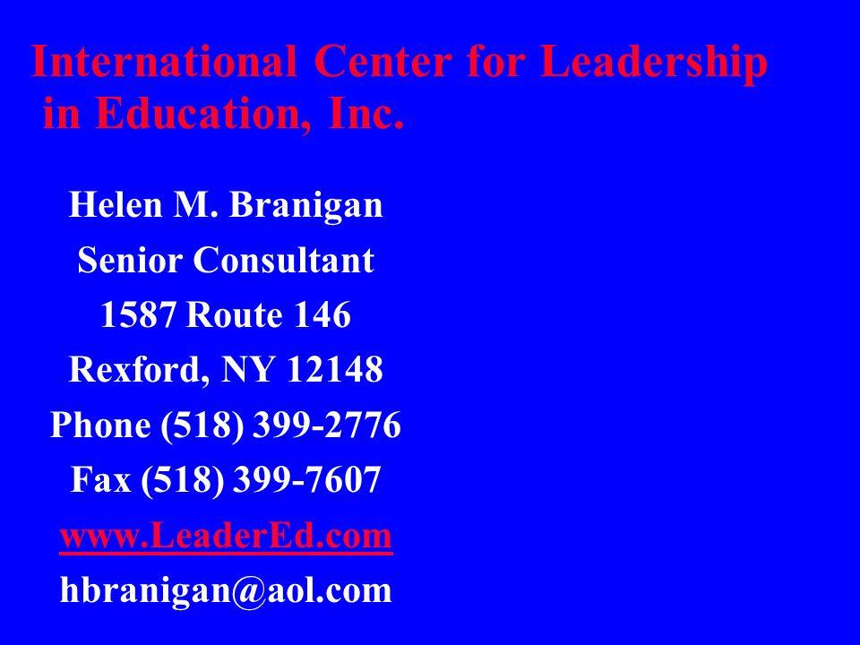 International Center for Leadership in Education, Inc.