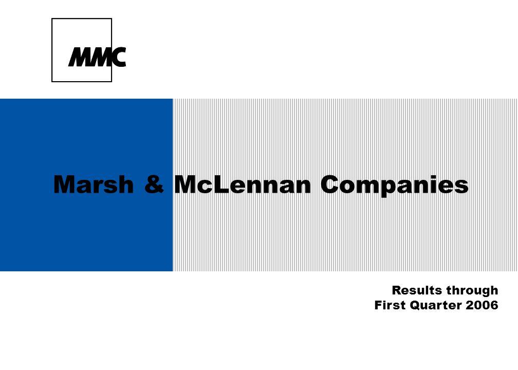 Marsh & McLennan Companies Results through First Quarter 2006