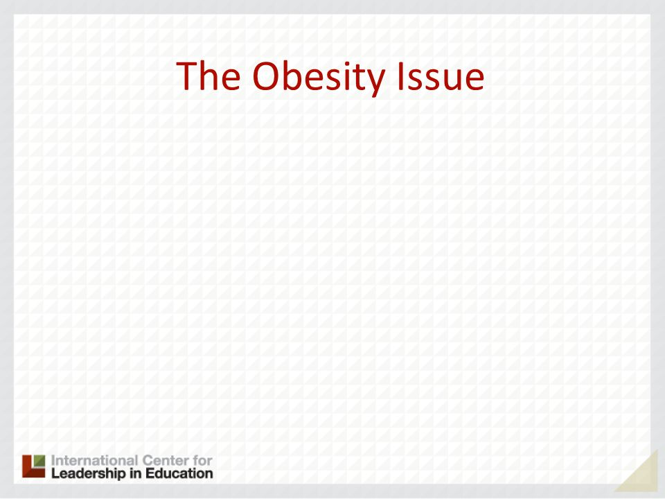 The Obesity Issue