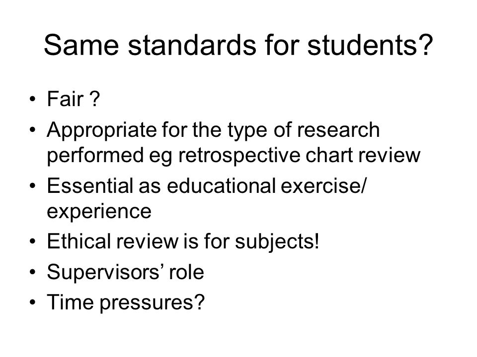 Fair that students collect data for their supervisors.