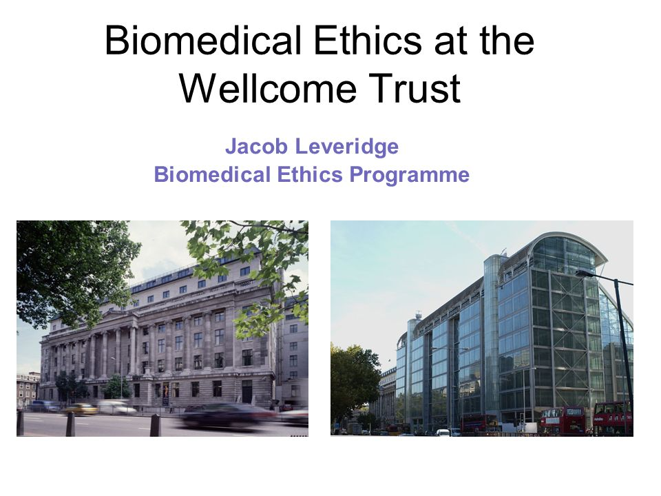 An independent research- funding charity Established 1936 Funded from private endowment Managed for long-term stability and growth Interests range from science to history of medicine The Wellcome Trust