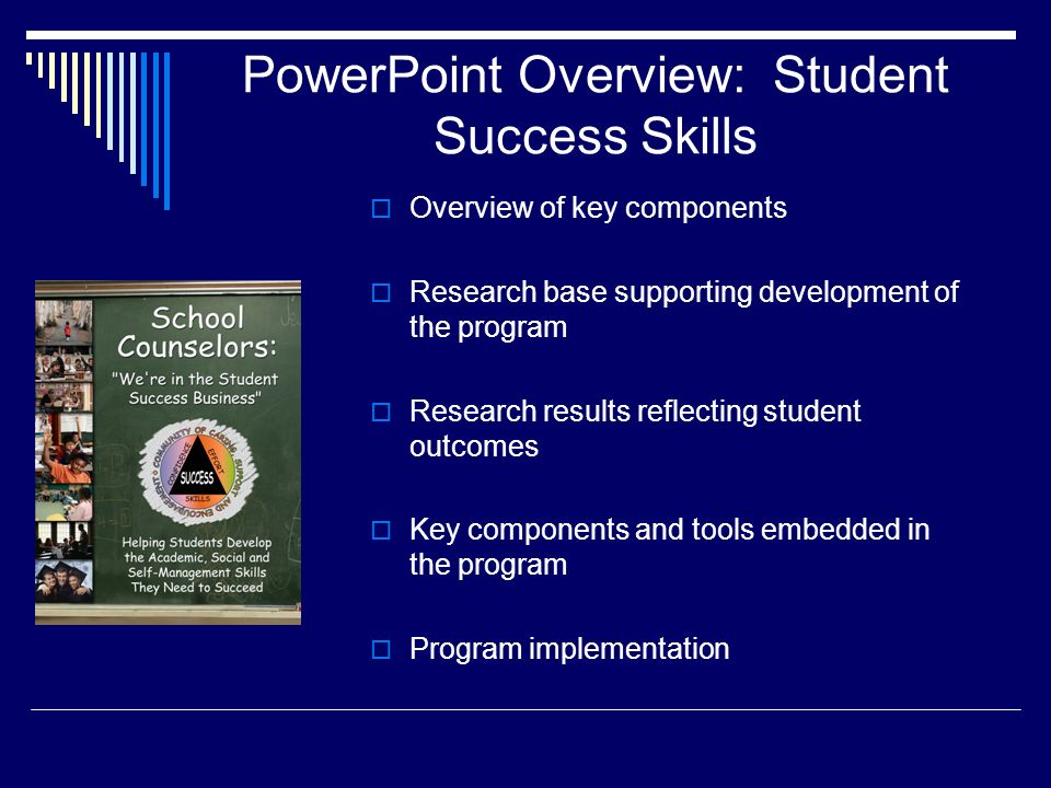 Strategy One: Goal Setting and Progress Monitoring The Seven Keys to Mastering Any Course are used throughout the group and classroom intervention.