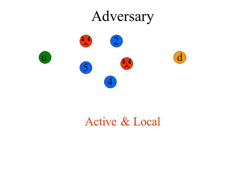 Adversary u 12 3 4 5 d Active & Local