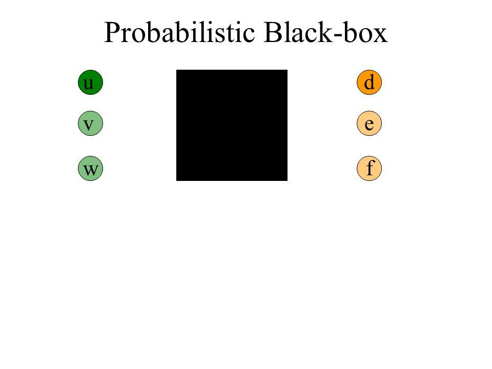 Probabilistic Black-box ud v w e f