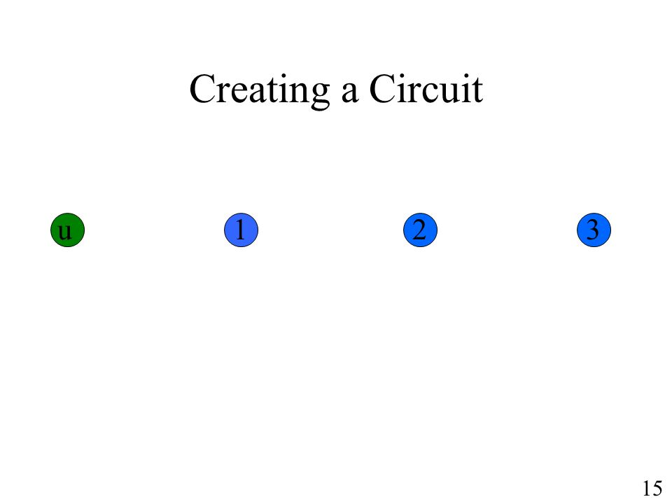 Creating a Circuit u123 15
