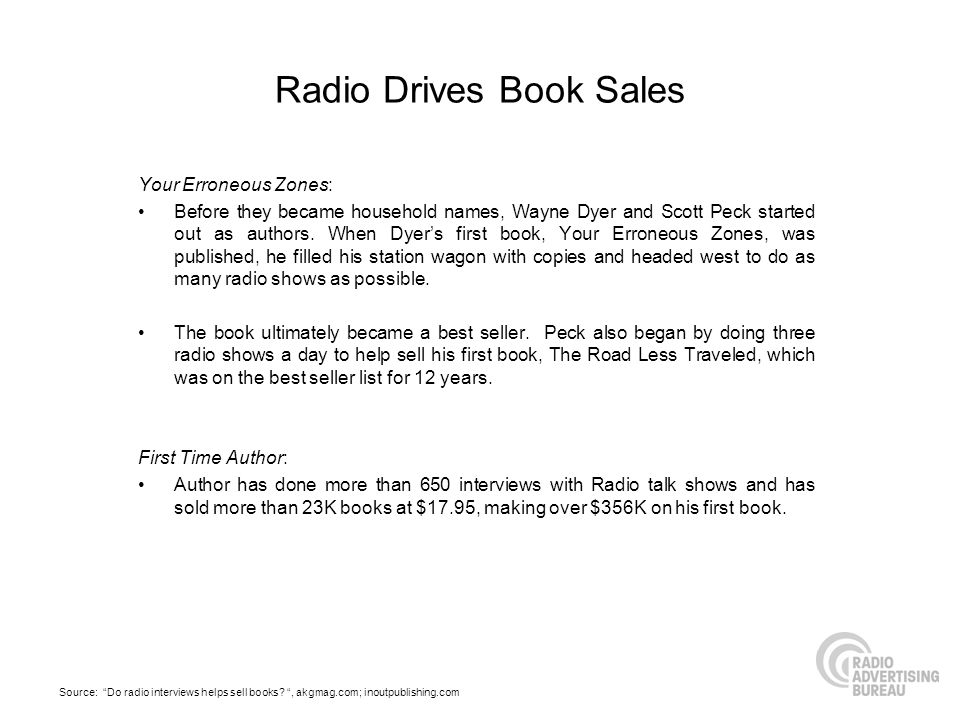 Radio Drives Book Sales Your Erroneous Zones: Before they became household names, Wayne Dyer and Scott Peck started out as authors.