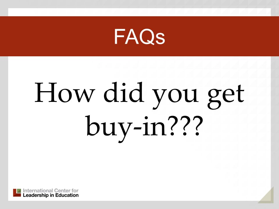 How did you get buy-in Third Key Trend FAQs