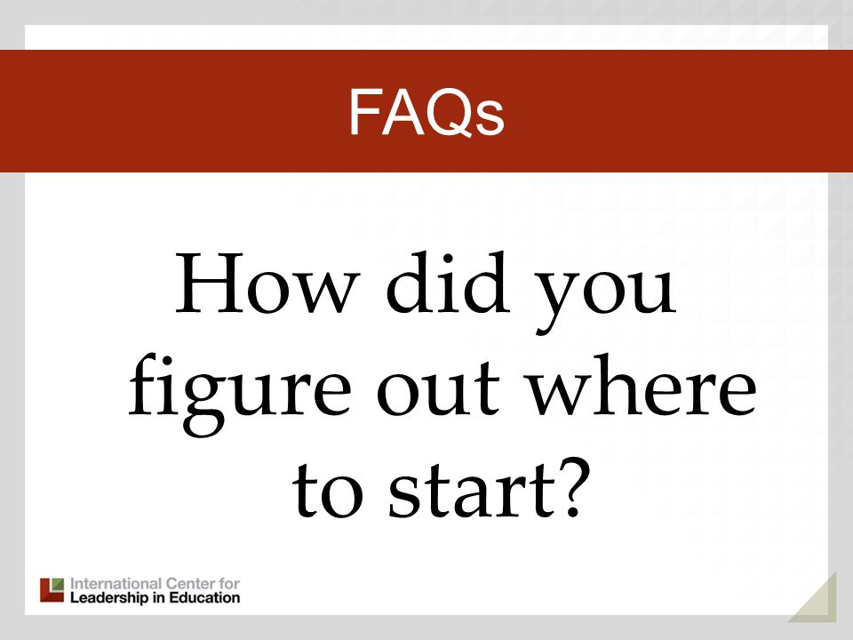 How did you figure out where to start Third Key Trend FAQs