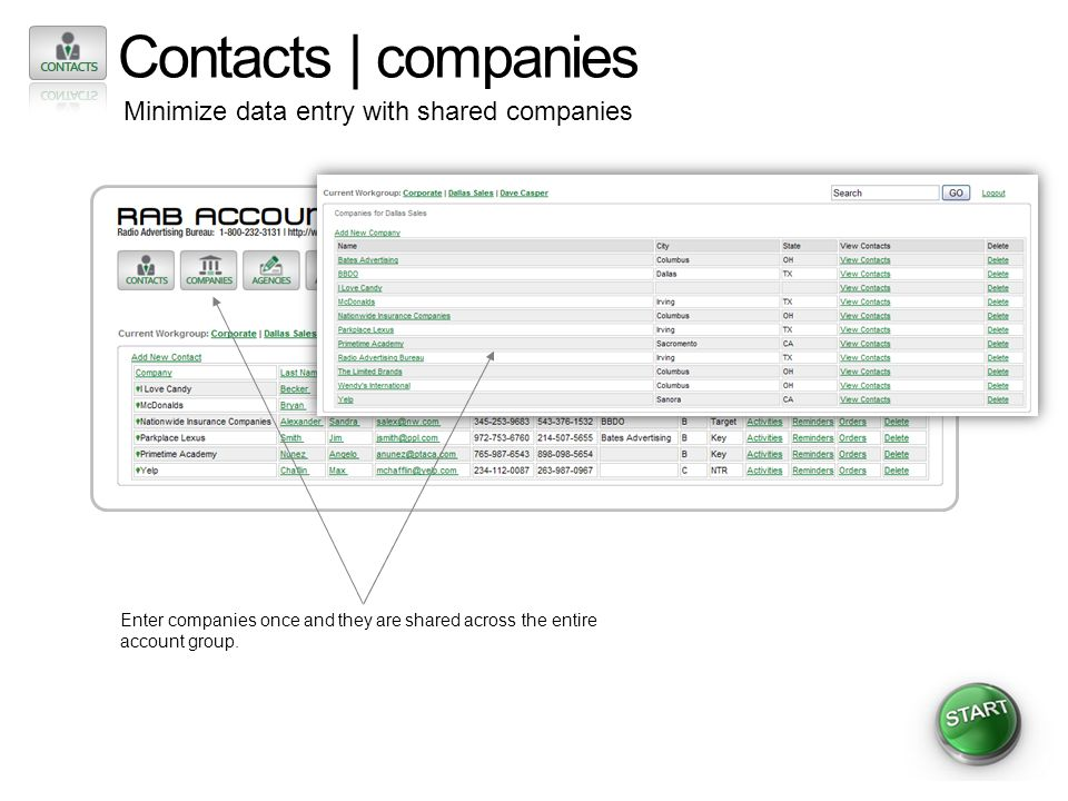 Contacts | agencies Unlimited number of agency contacts Add unlimited contacts to agencies.