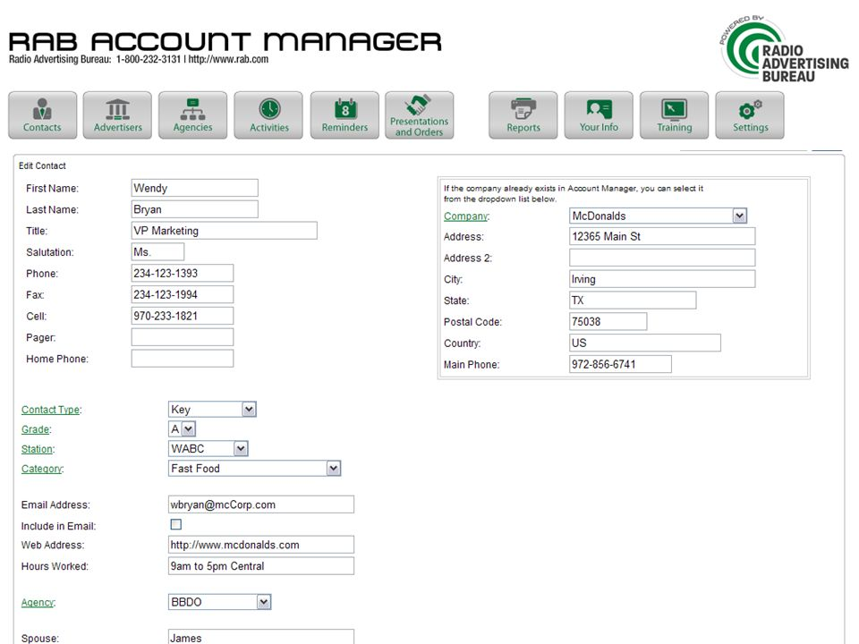 Accounts | record view