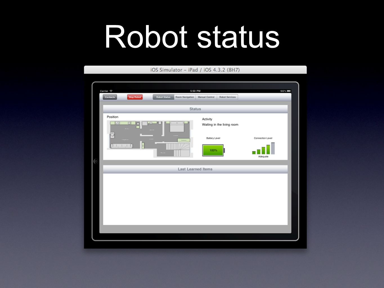 Robot status