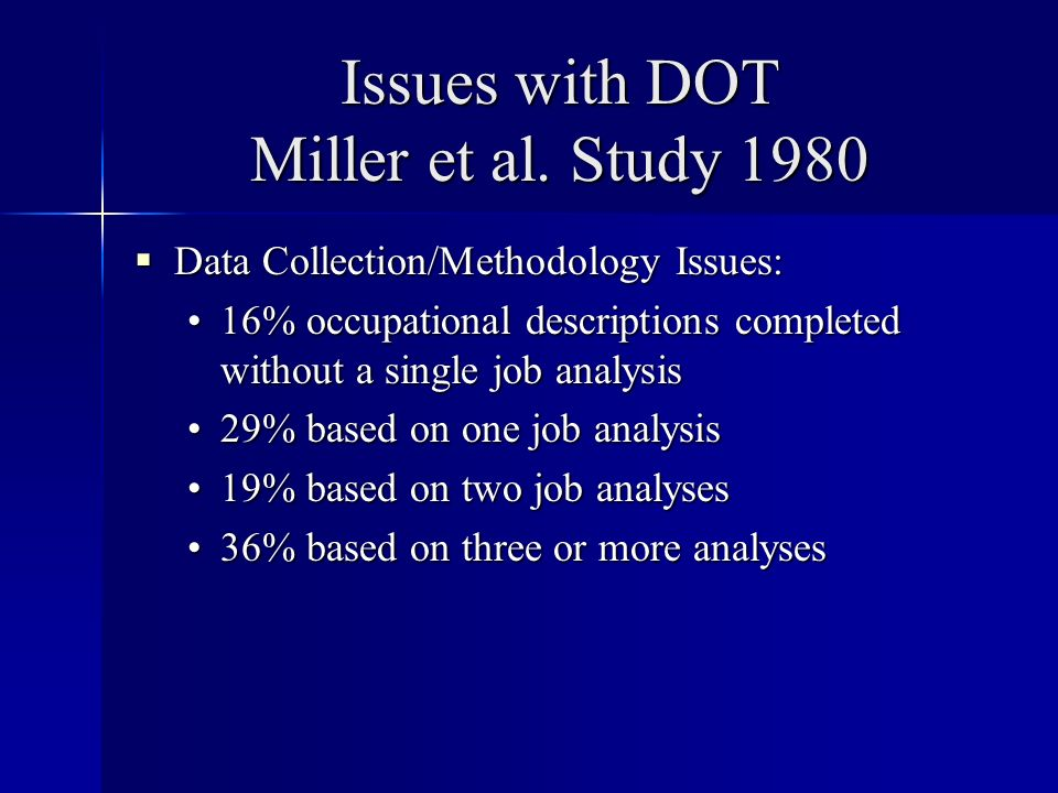 Issues with DOT Miller et al.