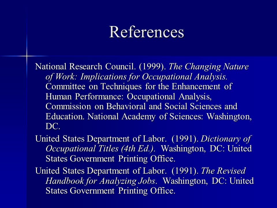 References National Research Council. (1999).