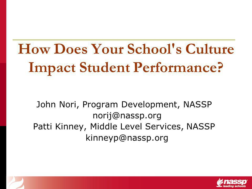 How Does Your School s Culture Impact Student Performance.