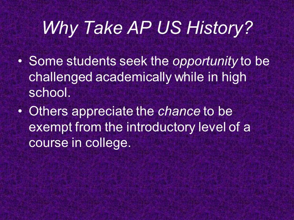 Course Description The AP U.S.