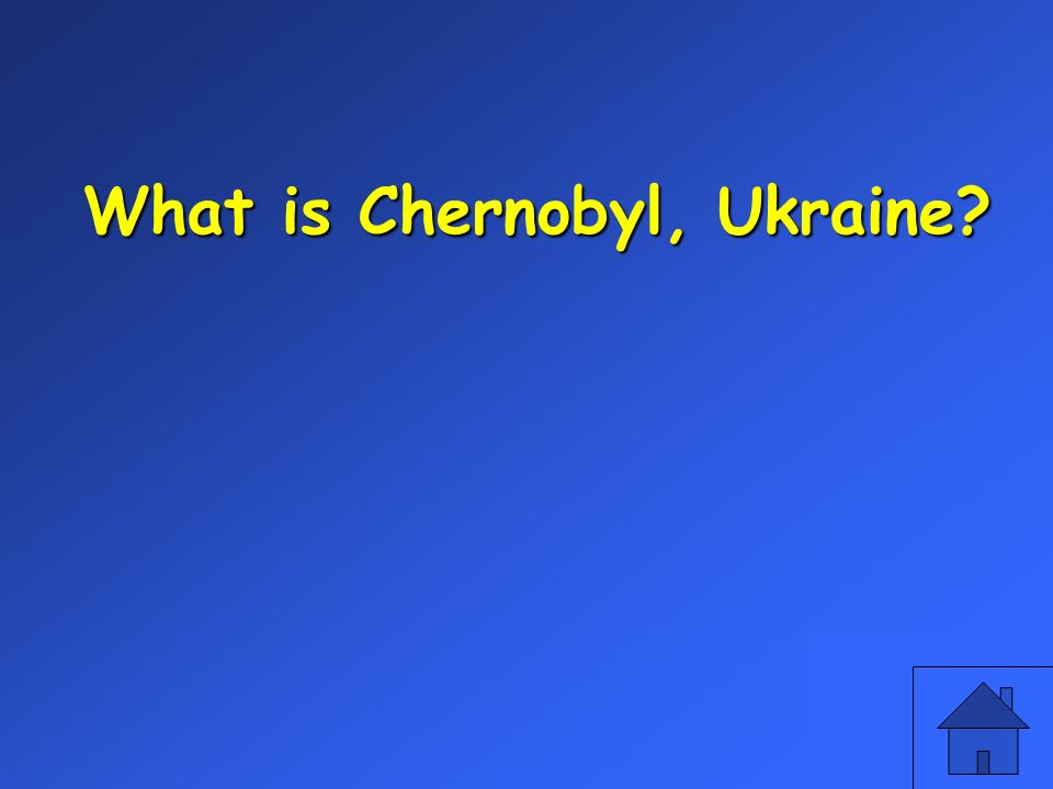 What is Chernobyl, Ukraine?